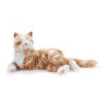 terapikatt röd och vit robot katt Mentex 2