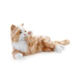 terapikatt röd och vit robot katt