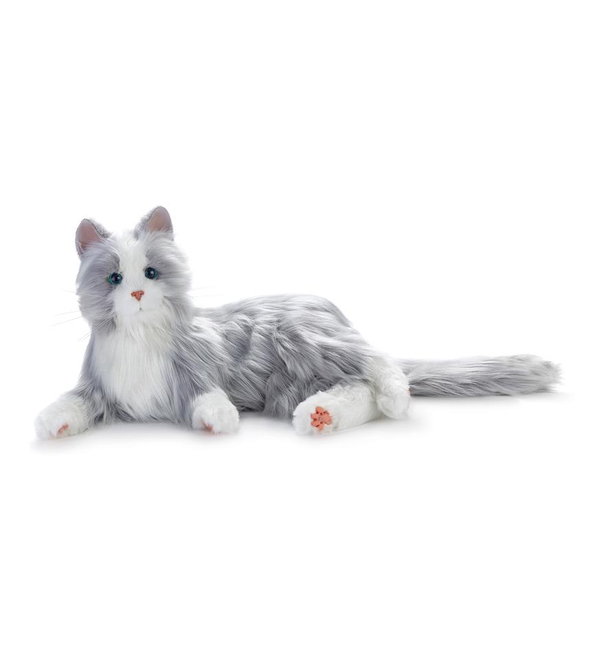 terapikatt silvergra robot katt Mentex 3