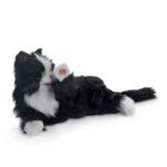 terapikatt svartvit robot katt Mentex 3