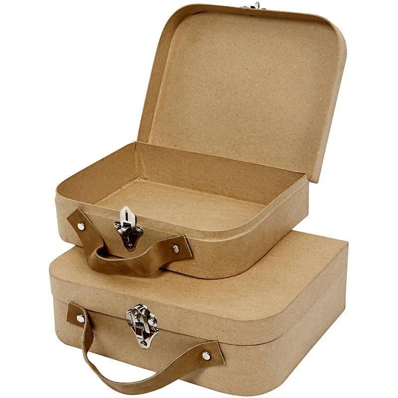 Gammaldags resväska i papper