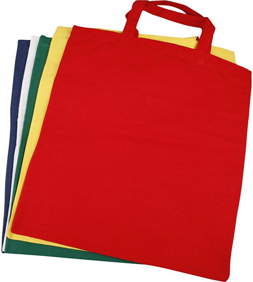 Tygkasse 5st blandade färger reminiscens kultur skapa kulturlådor demens äldreomsorg