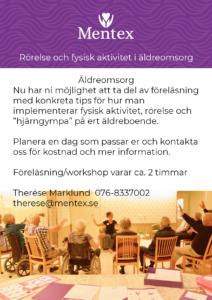 Mentex föreläsning workshop fysisk aktivitet o rörelse i äldreomsorg bild