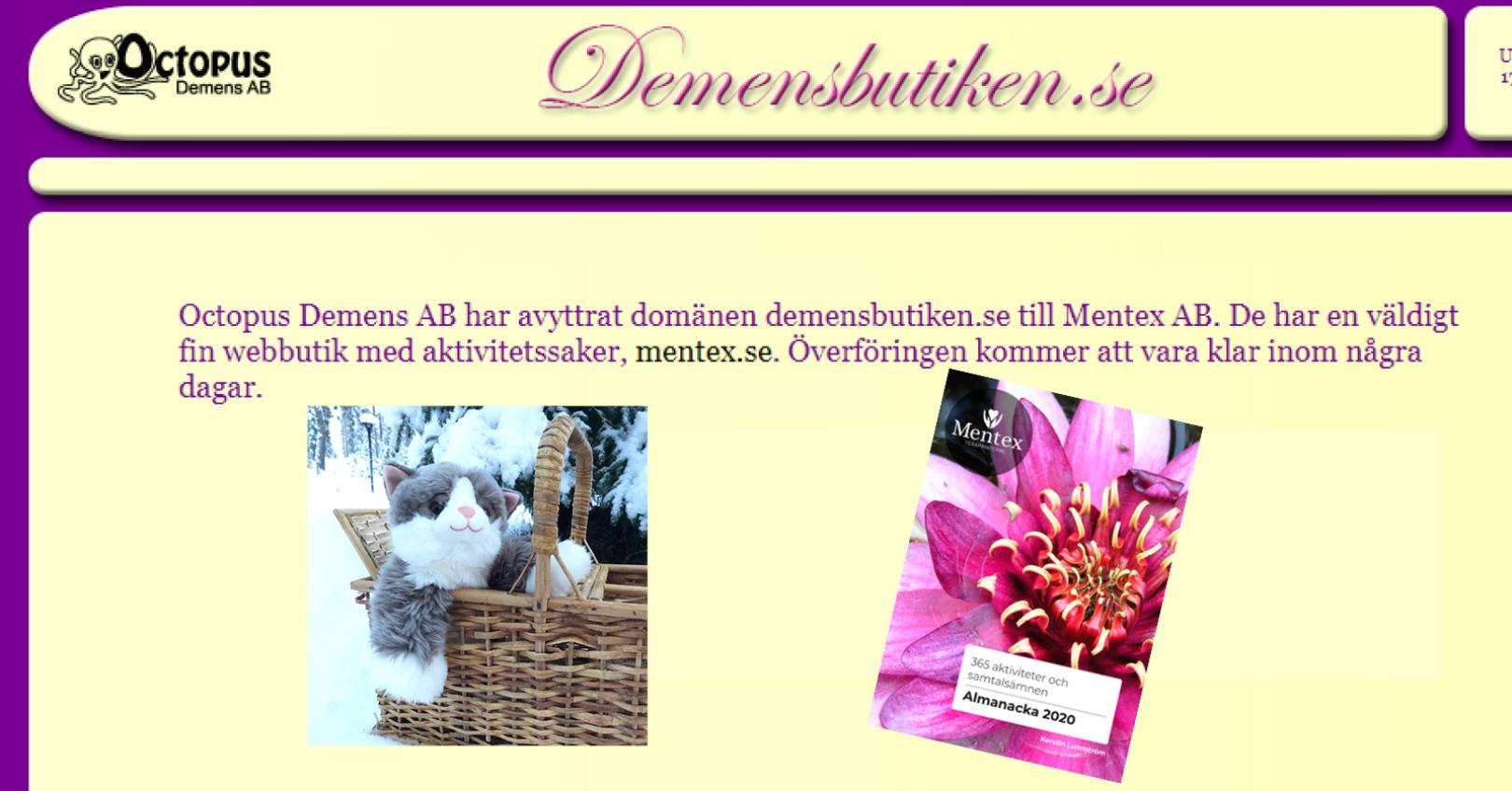 Mentex demensbutiken.se