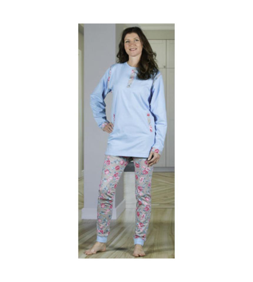 damoverall pyjamas med dragkedja i ben rygg förhindra plock med inkontinensskydd 3