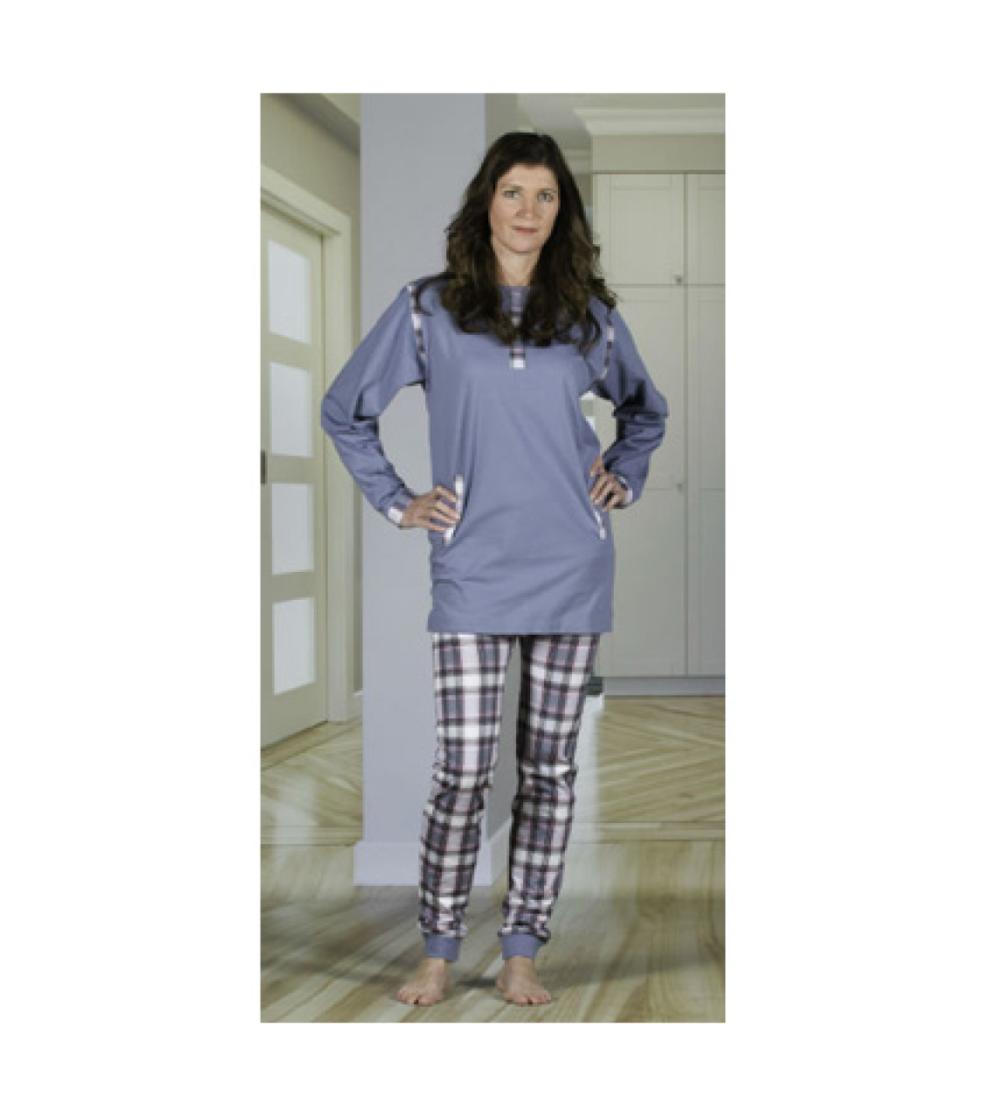 damoverall pyjamas med dragkedja i ben rygg förhindra plock med inkontinensskydd2