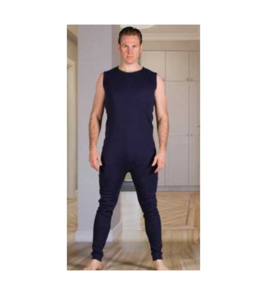 overall med långa ben dragkedja i rygg demens kläder äldre 2