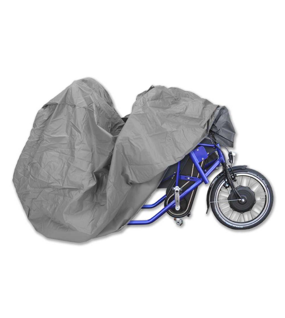parcykel Side by side cykel regnskydd