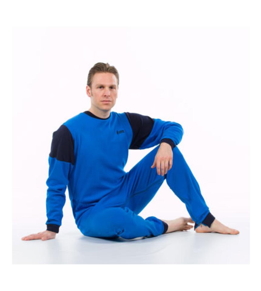 Mjuk overall pyjamas med dragkedja i ben och rygg 1011
