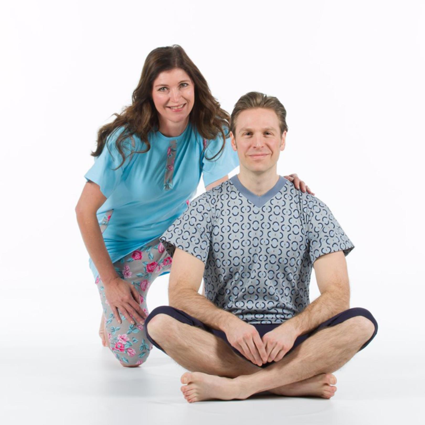 Svala overaller och pyjamas i sommar demens