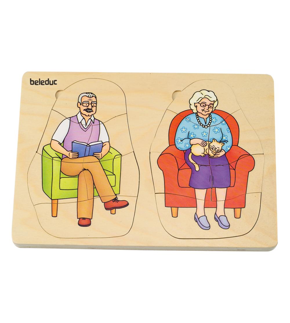 Mormor och morfar generationer pussel 6