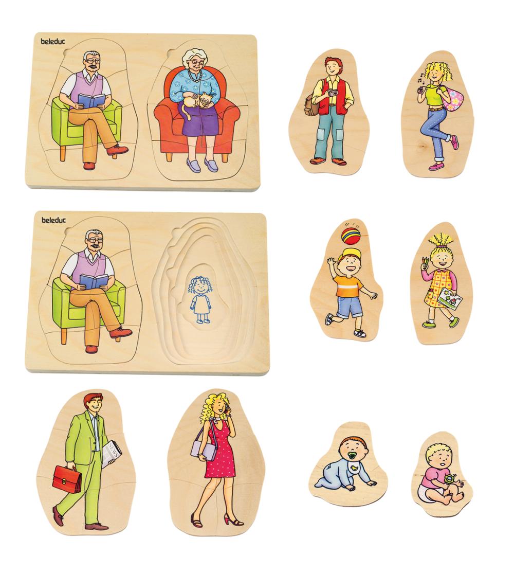 Mormor och morfar generationer pussel 7