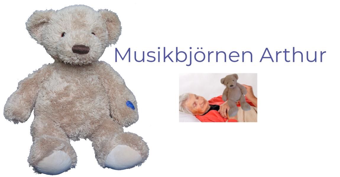 Musikbjörnen Arthur musikspelande nalle mentex