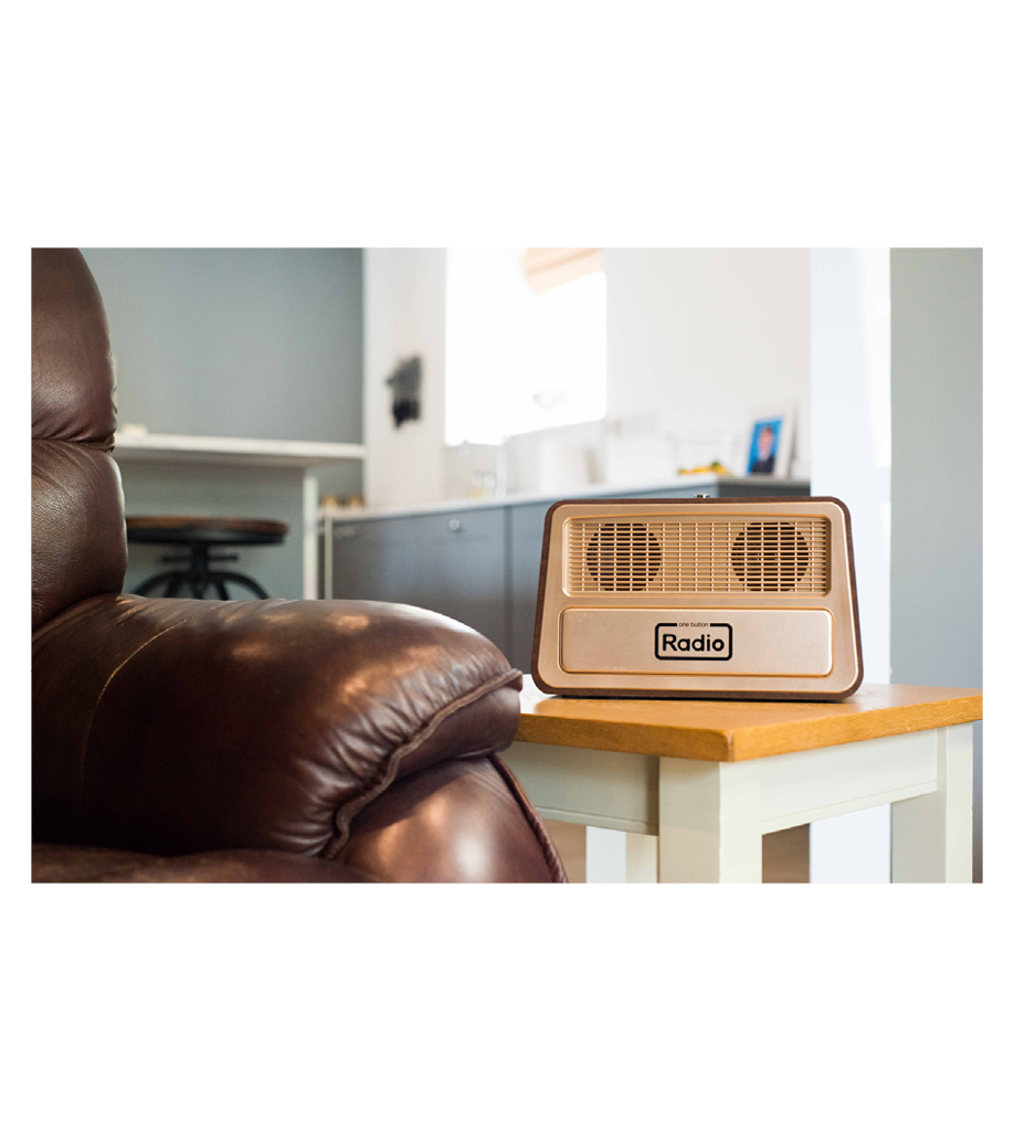 Enkel radio för äldre en knapp radio 3