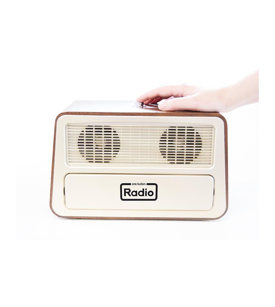 Enkel radio för äldre enknappsradio 2
