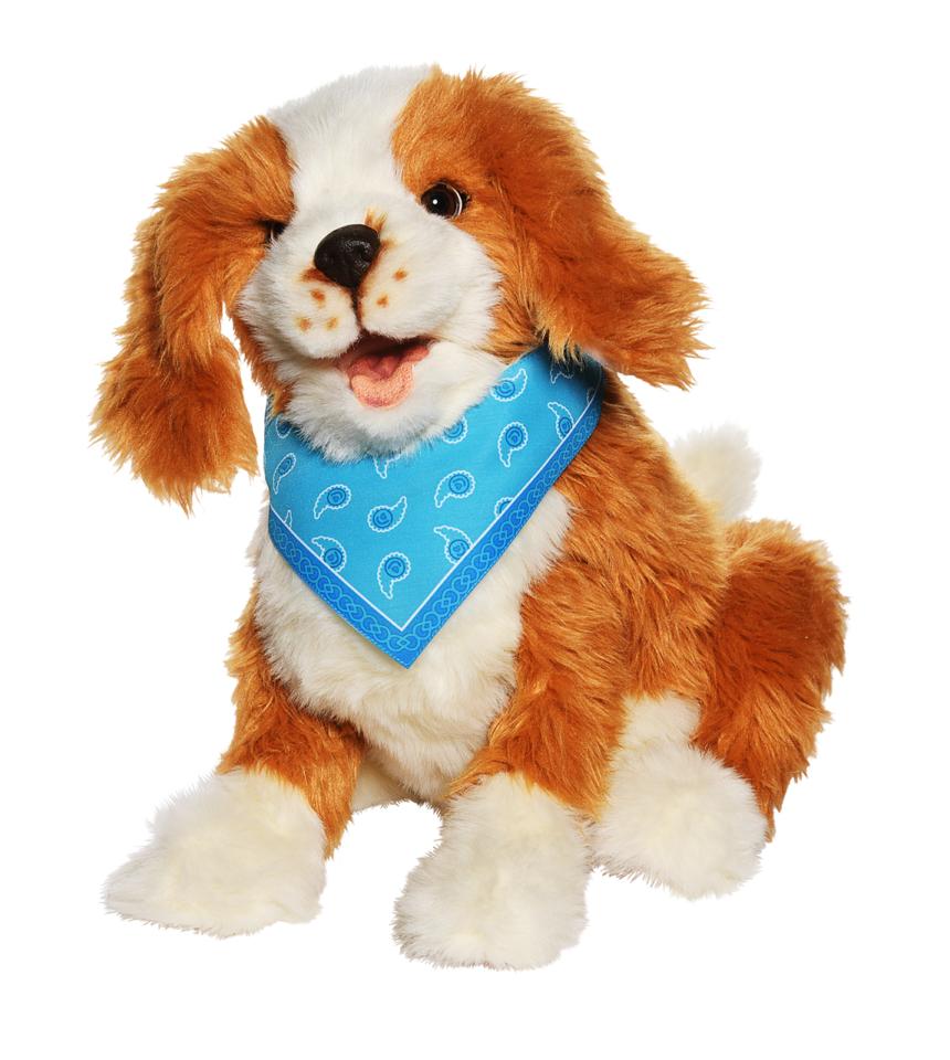 Terapihund digital fläckig robothund mentex 1