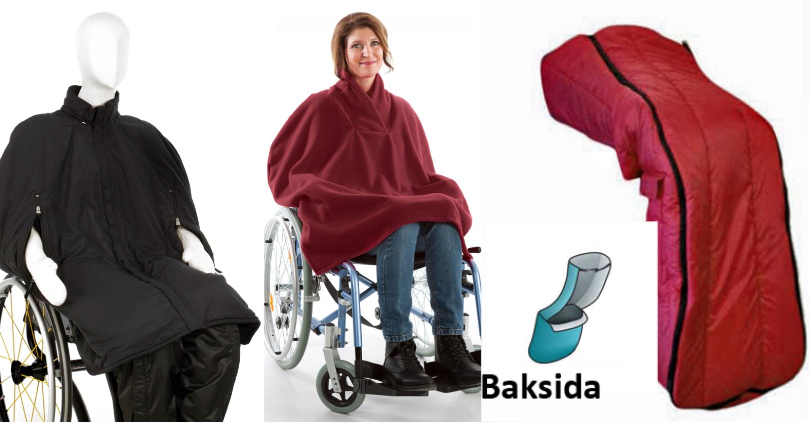 Klädd för utevistelse i rullstol äldreboende